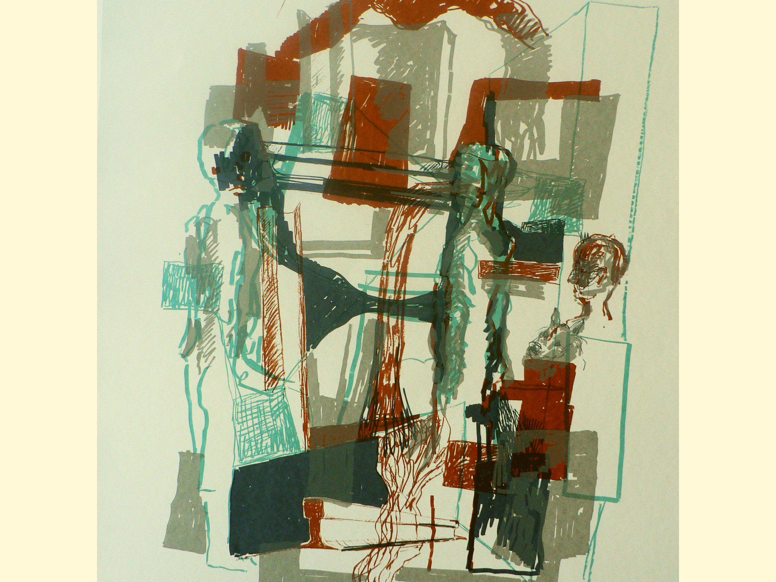 Stahlmenschen, 2001, Siebdruck