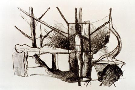 Waldmensch, 1998, Lithografie