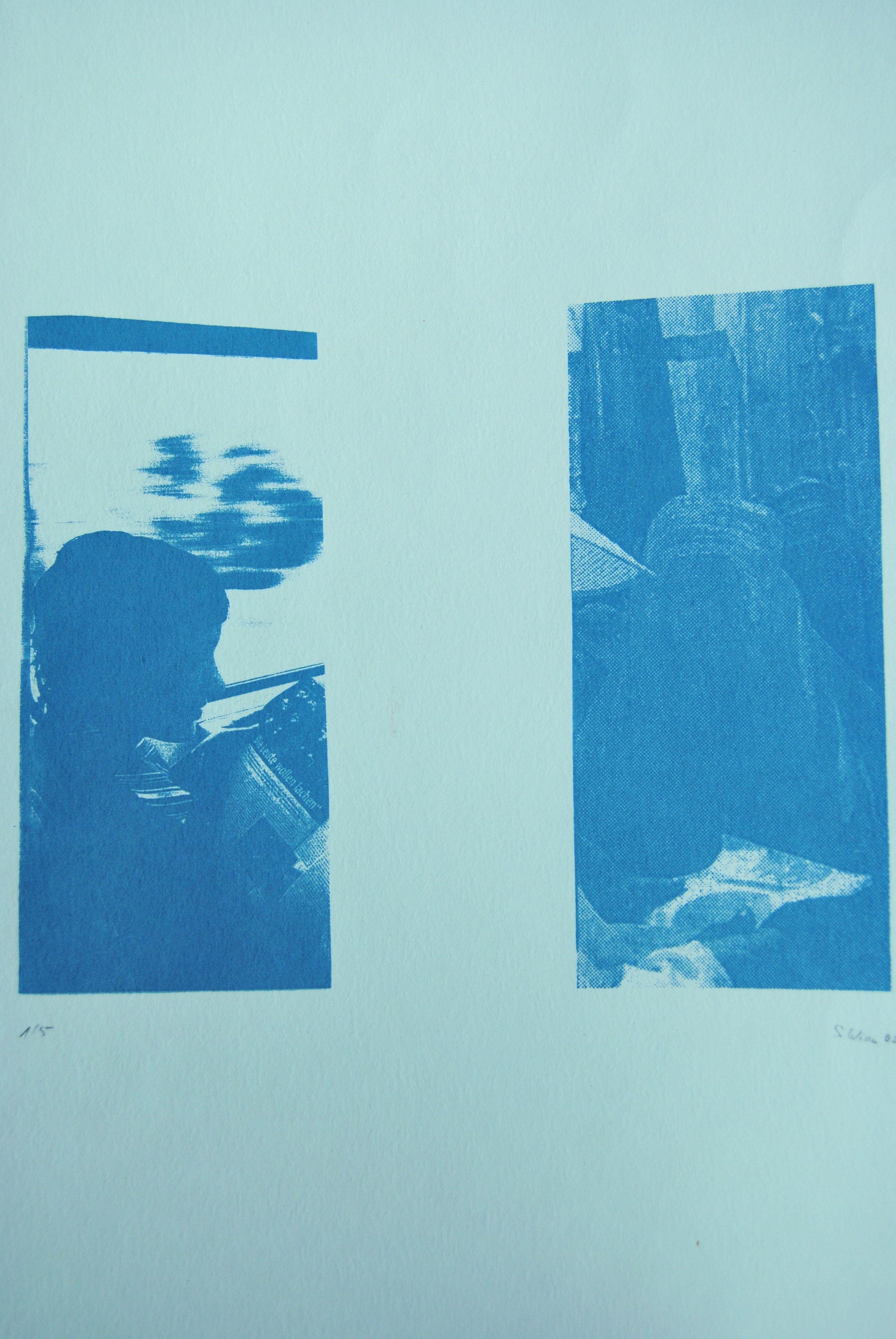 Zwei Frauen, 2002, Siebdruck