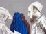 Afghanische Frauen, 2005, Öl auf Nessel, 60 x 90 cm