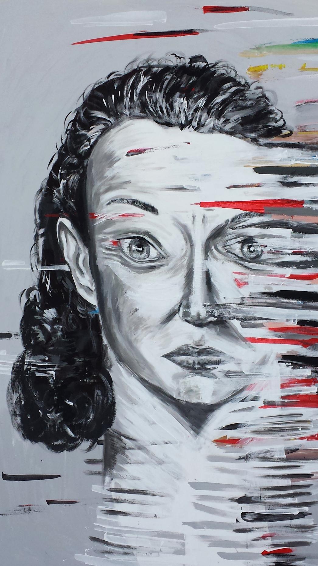 Alkoholikerin, Acryll auf Nessel, 180 x 140 cm, 2014