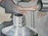 Maschinenarm, 2011, Öl auf Leinwand, 180 x 140 cm