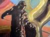 Stahlarbeiter VII, 2011, Öl auf Nessel, 40 x 50 cm
