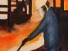 Stahlkocher 4, 2008, Öl auf Nessel, 60 x 40 cm
