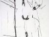 Absturz II, 2005, Kohle auf Papier, 50 x 30 cm