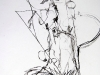 Absturz IV, 2005, Kohle auf Papier 50 x 30 cm