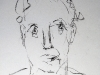 Porträt einer Frau V, 2003, Kohle auf Papier, 50 x 30 cm