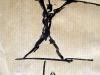 Gefangener II, 2003, Tusche auf Papier, 10 x 5 cm