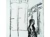 Kranmann IV, 2004, Kohle auf Papier, 50 x 30 cm