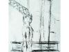 Kranmann V, 2004, Kohle auf Papier, 50 x 30 cm