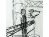 Kranmann VII, 2004, Kohle auf Papier, 50 x 30 cm