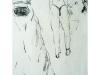 Zwei Frauen 2, 2004, Kohle auf Papier, 50 x 30 cm